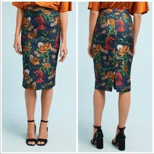 🆕NWT Anthropologie floral jacquard pencil skirt
